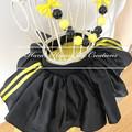 Yellow Wiggles Emma inspired skirt,Yellow and black Skirt