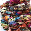 Recycled silk chiffon ribbon