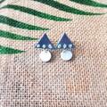 Cute Minimalist Boho Gradient Polymer Clay Statement Stud Earrings