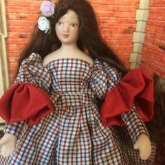 1/12th Porcelain OOAK Hand Made Doll  Cloe