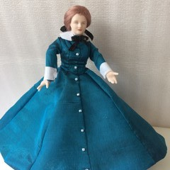 1/12th  Hand Made Porcelain Doll Meg March Little Women