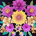 Paper flower backdrop Paper flower set princess party Girls room decor