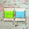 - BLUE - Silky Cord {5m} Bright Twine Wood Spool | Gift Wrap under 5