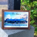 Watercolour home timber printed framed handmade Sign, housewarming gift