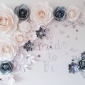 Paper flower Backdrop set/paper roses/bridal shower/wedding decor