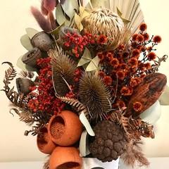 Outback Sunset- Dried flowers arrangement - Autumn - 42x25cm - Boho - Bird