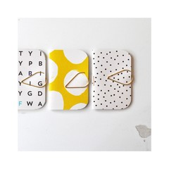 Mini Books {3} Yellow White Books Blank | Mini Notebooks | Mini Journals