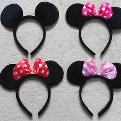 "Mickey Minnie Ears to Match Your ""Haru'sHoneyBee""  Set"