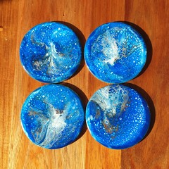 Unique handcrafted resin coasters - set of 4 or 6