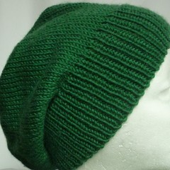 Unisex adult hand knit  Slouchy/beanieClassic 4/4