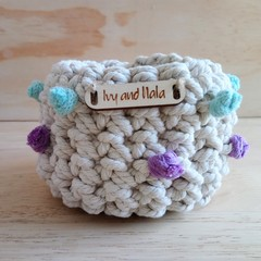 Small Crochet Bobble Basket