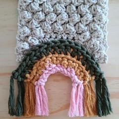 Crochet Rainbow Wall Hanging