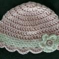 Girl Crochet Hat Size 3- 6 months
