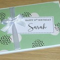 Happy Birthday card - green abstract