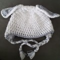 Boy or Girl hat with bunny ears Size 2 - 4 years