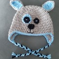 Crochet puppy dog hat Size 2 - 4 years