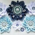 Paper Flower backdrop Nautical Theme /baby shower/its a boy decor