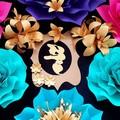 Paper flower backdrop /princess Jasmine Paper flower set /Girls party
