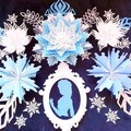 Paper flower backdrop, paper flower set, frozen inspired, princess elsa inspired