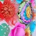 Moana inspired paper flower backdrop, tropical party, moana birthday,