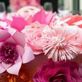 Paper flower table runner/table centrepiece decor/wedding /princess party /birth