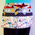 Teacher utility craft vendor cafe daycare apron - 6 pockets