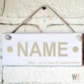 Personalised GLOW IN THE DARK Hanging Name Board | YELLOW-GREEN