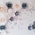 Paper flower Backdrop set/paper roses/bridal shower/wedding decor