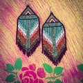 Handmade beaded drop earrings