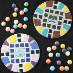 """Mosaic Coasters """"Hound Dog"""""""