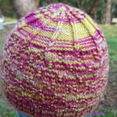 Baby hat pink/yellow