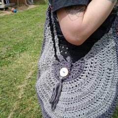 Crochet Shoulder Bag /Beach bag/Nappy Bag