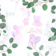 Watercolour Koala doodle sheet 2 - make them your own - print then doodle away