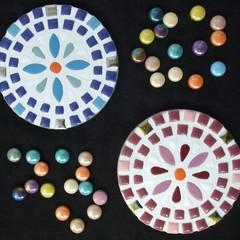 """Mosaic Coasters """"Daisies"""""""