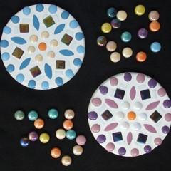 "Mosaic Coasters ""Metallic Diamonds"""