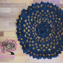 hand crochet floor doily