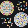 """Mosaic Coasters """"Metallic Petals"""""""