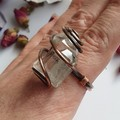Clear Quartz Statement Ring