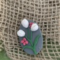 Pearl White Tulip Brooch