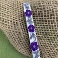 Purple Floral Hair Spring Clip