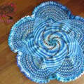 mandala star floor doily/throw