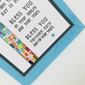 Bless You Card - Poem aqua colour theme