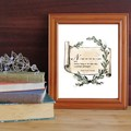 Coleridge quote print about great poets being profound philosophers with illustr