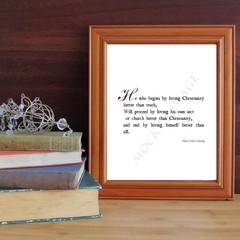 Printable Coleridge quote print on Christianity, truth, Church and vanity