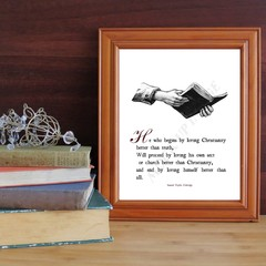 Printable Coleridge quote print on Christianity, truth, Church and vanity with V