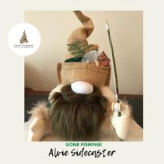 Nisse | Gnome:  'Alvie' | Fishing |H:28cm