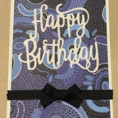 Australian Aboriginal Birthday  Handmade Card FREE POST