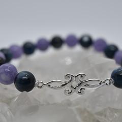 Silver Filigree with Blue Kyanite Bracelet