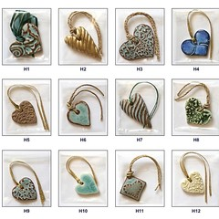 Incomparable Buttons handmade ceramic pendants