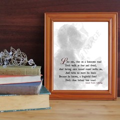 Printable Coleridge spooky, gothic theme poem - Part of the Rime of the Ancient
